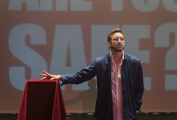 Lee Pace as Joe Macmillan- Halt and Catch Fire _ Season 3, Episode 1 - Photo Credit: Tina Rowden/AMC